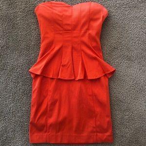 BEBE Bodycon Peplum Dress